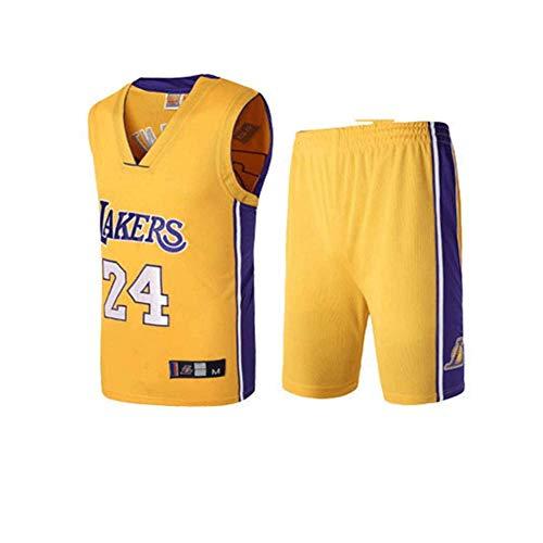 LinkLvoe 24 Kobe Bryant Basketball Anzug Trikot Herren Sport Jersey Lakers Basketball-Bekleidungssets Für Herren Tops Weste Für Basketballfans (XS - XXXL)