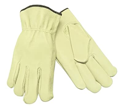 MCR Safety Grain Pigskin Driver Regular Grade Gloves with Keystone Thumb