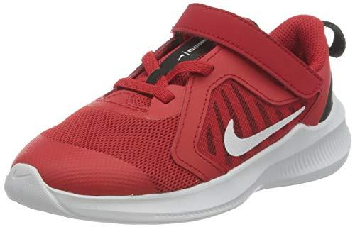 Nike Downshifter 10 (TDV), Scarpe da Corsa Unisex-Bimbi 0-24, University Red/White/Black/White, 17.5 EU