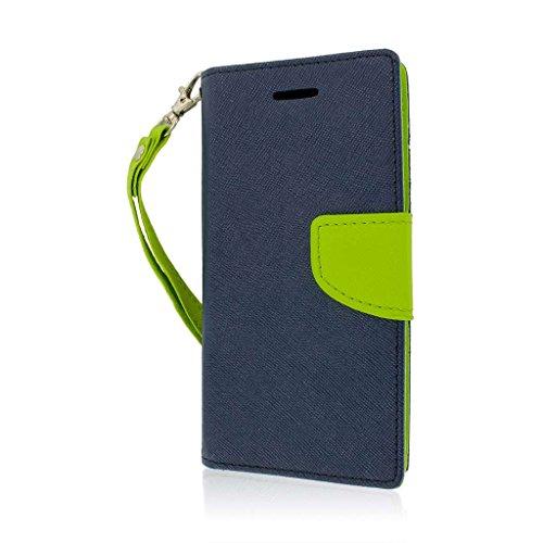 MPERO Flex FLIP SCHUTZHÜLLE MIT Standfunktion FÜR Amazon FIRE Phone–Blau/Neon Grün