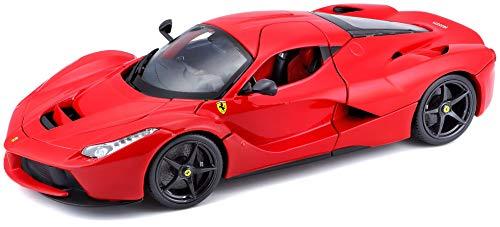 Bburago Maisto France - 16001 - Ferrari LaFerrari - Véhicule Miniature - Échelle 1/18 - Couleur rouge