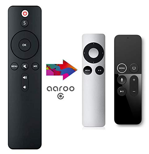 aarooGo Remote Control with TV Power and Volume/Mute Replaced for Samsung/Vizio/LG/Sharp for APL TV Player A1294 A1218/MA711 A1378/MC572 A1427/MD199 A1625/MGY52/MLNC2 A1842/MQD22/MP7P2