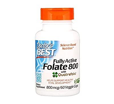 Doctor's Best Folate 800mcg (60 Vegetarian Capsules) from Doctors Best
