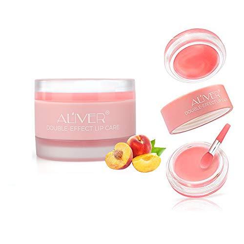 Lip Sleep Mask, Lip Scrub, Lip Treatment, Peach Overnight Moisturizing Repairing Lips Mask, Sleeping Lip Balm, Peeling Lips, Lip Primer, Lip Scrub, Chapped Skin