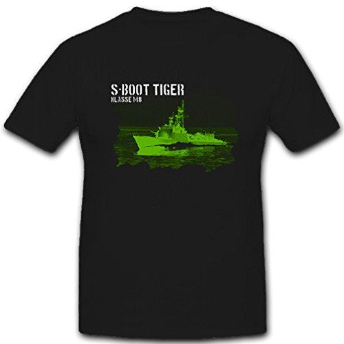 S-Boot Tiger Klasse 148 Bundeswehr Nachtsicht Restlichtverstärker T Shirt #8137, Größe:XXL, Farbe:Schwarz
