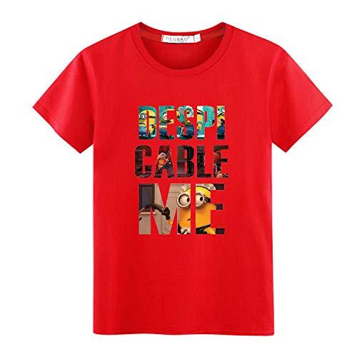 Camiseta de Manga Corta para Hombre Nueva Cuello Redondo Camiseta con Estampado de Letras de Dibujos Animados