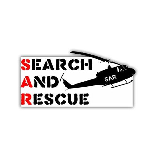 Aufkleber/Sticker SAR Helikopter Suche und Rettung BW Luftwaffe 5x10cm A964