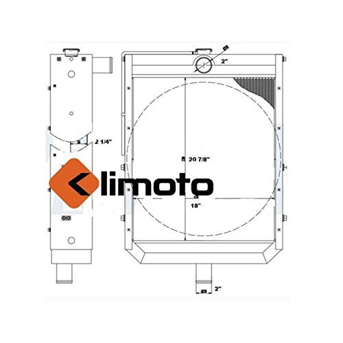 Klimoto Radiator | fits AJAX OIL PUMP ENGINE RADIATOR WITH 7.25L 8.5L ENGINES | KLI42-10309