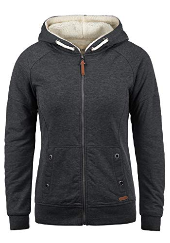 DESIRES Mandy Pile Damen Sweatshirt Pullover Pulli Mit Teddy-Futter, Größe:L, Farbe:D Gre Pil (P8288)