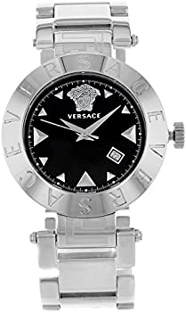 Versace Quartz Black Dial Ladies Watch