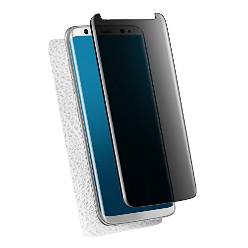 Galaxy S9 plus用 強化ガラスフィルム 覗き見防止 9H硬度 MiiKARE「ケースに干渉せず プライバシーガード」高感度 3Dラウンドエッジ加工 耐衝撃 指紋防止 飛散防止 超撥水 自己吸着【覗き見防止表面1枚+指紋防止柔らかい背面1枚】 (s9 plus)