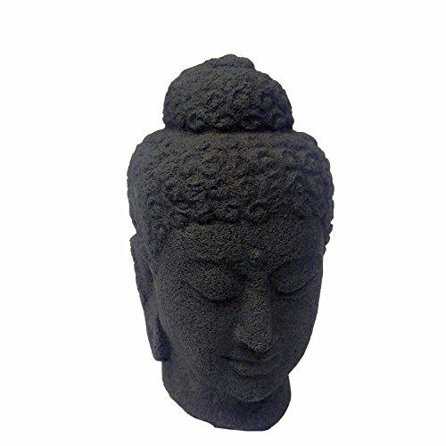 Small Buddha Head Sculpture, Buddha Head Statue Figurine Home Decor, Tabletop Zen Garden, Asian Garden, Oriental Bodhisattva Enlightenment Sculpture, Perfect Gorgeous Unique Gift Ideas