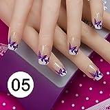 NA 24 Unids/Set Puntas Completas de acrílico para uñas postizas 10 tamaños Vienen con Cinta Adhesiva para uñas, Adhesivos para uñas, Bricolaje, Cobertura Completa, uñas Decorativas