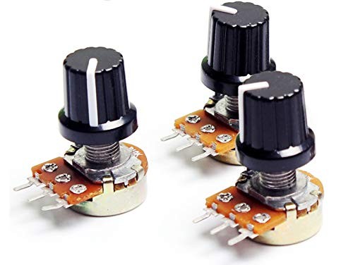 5pcs / Lot 10K OHM Potentiometer Widerstand WH148 B10k Ohm 3 Pin Linear Taper Drehpotentiometer For Arduino Mit Kappe