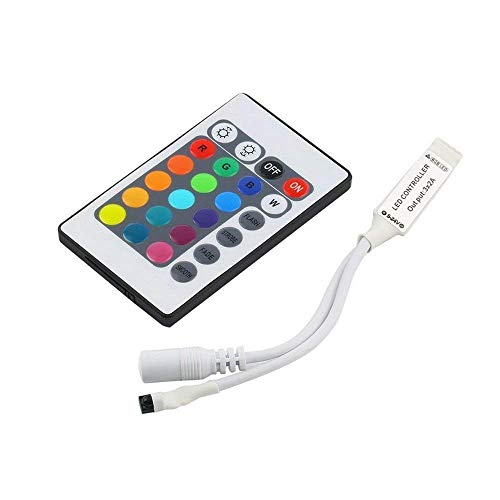 VIPMOON IR Remote Control Controlador mini 24 Clave Control 5-24v 6A + Dimmer RGB LED Tira para 3528 5050 Tira de luz LED