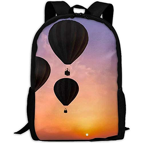 G.H.Y Türkei Luftballons des Sonnenuntergangs Erwachsene Reiserucksack Schule Casual Daypack Oxford Outdoor Laptop Tasche College