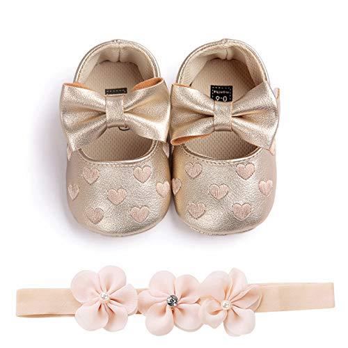 Carolilly - Zapatos de bebé con estampado de amor y lazo para...