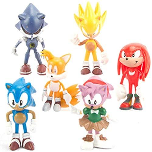 NoNo 3D-Figuren Animierte Modelle Figurensets The Hedgehog Sega Super Sonic 1. Boom der 2. Generation Shadow Hocks-2.0 Collection Box