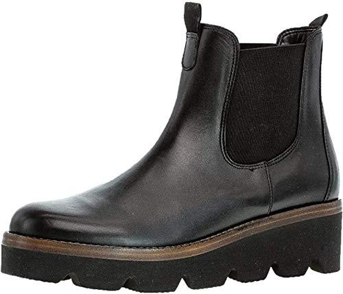 Gabor Damen Chelsea Boots 34.720, Frauen Stiefelette,Stiefel,Halbstiefel,Schlupfstiefel,gefüttert,Winterstiefeletten,schwarz (Cognac),41 EU / 7.5 UK