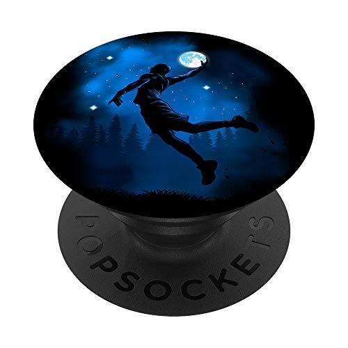 Encestando la luna, jugador de baloncesto PopSockets PopGrip: Agarre intercambiable para Teléfonos y Tabletas