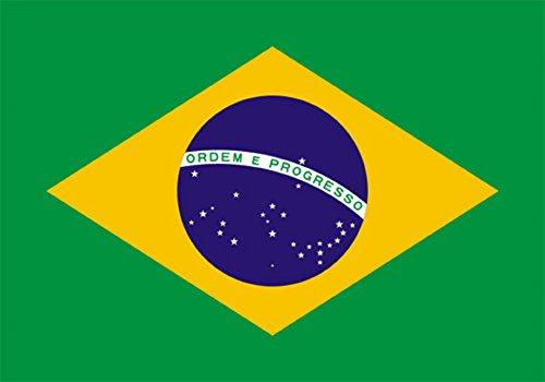 DURABOL Bandera Brasil- BRASILEÑA 150 x 90 cm Satén Brazil Flag