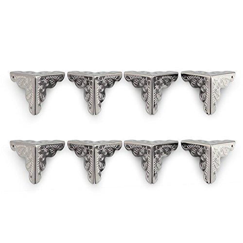 Owfeel 8pcs 25mm Antique Silver Corner Decorative Corner Box Corner Corner Pad Corner Protector
