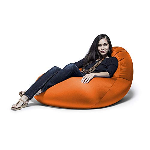 Jaxx Nimbus Spandex Bean Bag Chair for Adults-Furniture for Rec, Family Rooms and More, Large, Orange