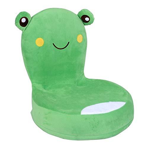 ZTKBG Kinderklapvloerstoel kikker voor kinderen met rugleuning kindervloer stoel gemakkelijk op te bergen en kan 15 kg beer
