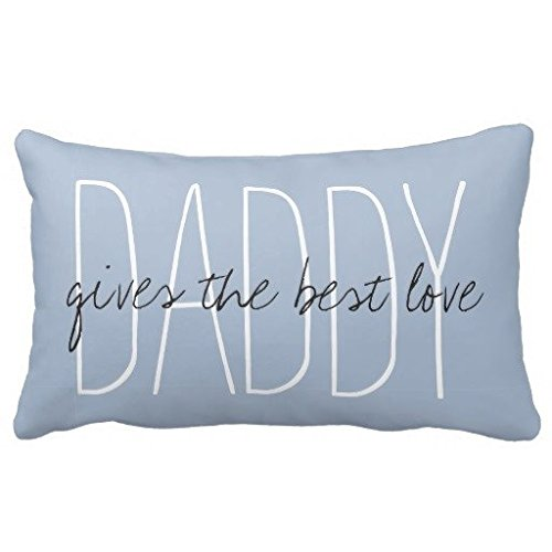 Standard Pillowcase Home Decorative Cushion Case Chic Pillow_daddygives The Best Love Pillow Cover 12x20 Inches