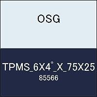 OSG テーパーエンドミル TPMS_6X4゚_X_75X25 商品番号 85566