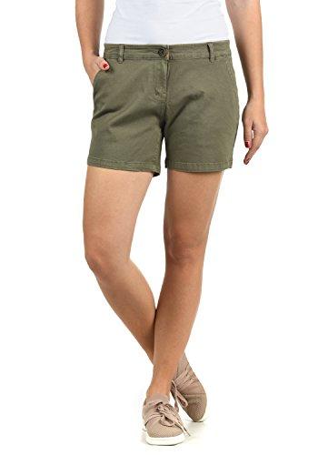 DESIRES DESIRES Kathy Damen Chino Shorts Bermuda Kurze Hose Aus Stretch-Material Skinny Fit, Größe:34, Farbe:Dusty Olive (3784)
