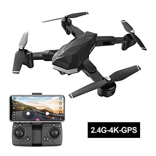 Rvest 5G Drone,Droni Professionali con Telecamera 4k,4K Quadcopter Pieghevole Live Video GPS Drone Drone A 4 Assi con Telecamera per Adulti Principianti Drone Training Fotografia Aerea