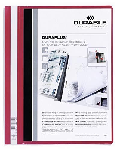 Durable 257903 Angebotshefter Duraplus mit Sichttasche (für A4) 25er Packung rot
