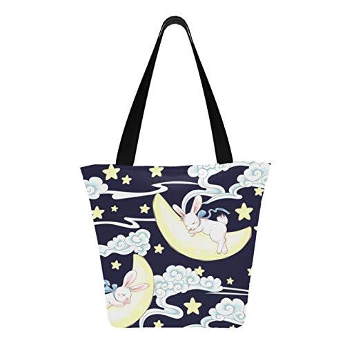 Cute Sleeping Bunny And Moon 11 × 7 × 13 pulgadas, lavable...