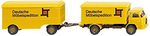 MAN, camion de déménagement avec bache 'DMS' - voiture miniature, Miniature déjà montée - 1:87