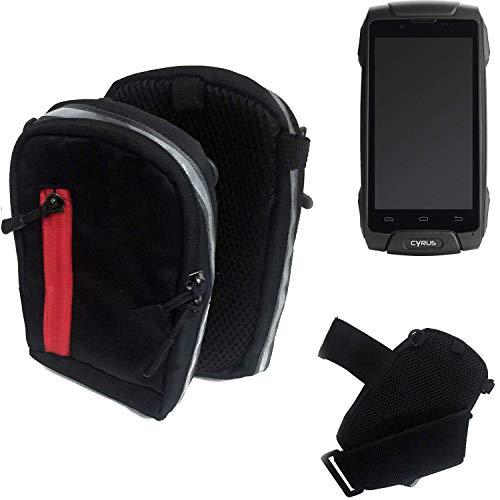 K-S-Trade® Outdoor Gürteltasche Umhängetasche Für Cyrus CS 30 Schwarz Handytasche Case Travelbag Schutzhülle Handyhülle