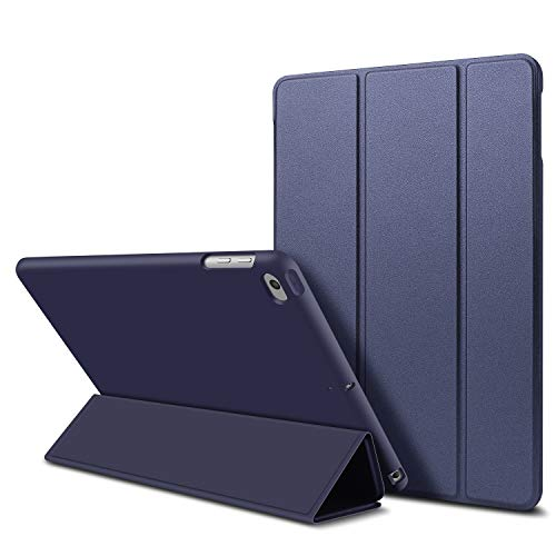 iPad Mini 1/2/3 Case,GOOJODOQ Smart Cover With Magnetic Auto Sleep/Wake Function PU Leather Shockproof Silicon Soft TPU Folio Case For Apple iPad Mini 1/2/3 in Dark Blue