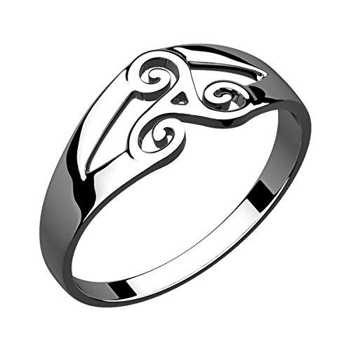 GWG Jewellery Anelli Donna Regalo Anello Argento Sterling Triscele Tripla Spirale Celtica - 9 per Donne