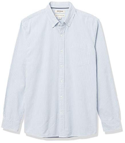 Amazon Brand - Goodthreads Men's Standard-Fit Long-Sleeve Striped Oxford Shirt w/ Pocket, Blue Bengal Stripe, XX-Large