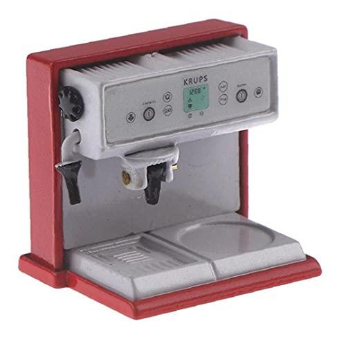 Froiny 1: 12 Metal Cafetera Máquina De Simulación De Muñecas En Miniatura De Cocina Decoración De La Casa De Los Niños del Juego del Juguete