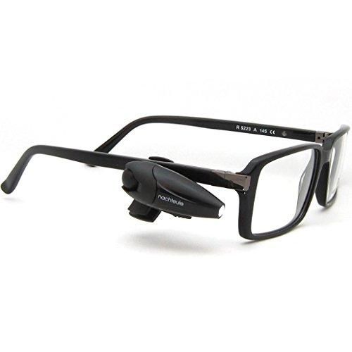 nachteule+ Das clevere Leselicht für die Brille - brandneue, wiederaufladbare Akku-Version!