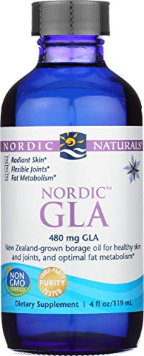 Nordic Naturals Nordic GLA Unflavored - 100 Percent Vegetarian Borage Oil, Supports Healthy Skin, Joints, and Optimal Fat Metabolism*, 480 mg GLA Per Serving, 4 Ounces