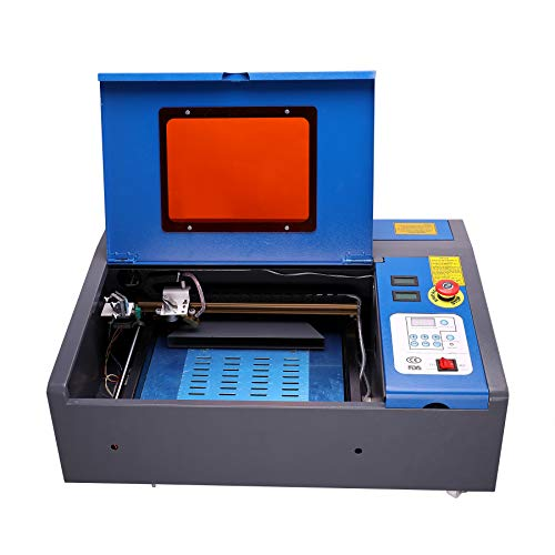 Sfeomi 300 x 200 mm Máquina de Grabado Láser 30-35W CO2 Grabador de Láser Grabador con Puerto USB Laser Engraving Machine para Vidrio, Madera, Plástico, Cuero, etc.