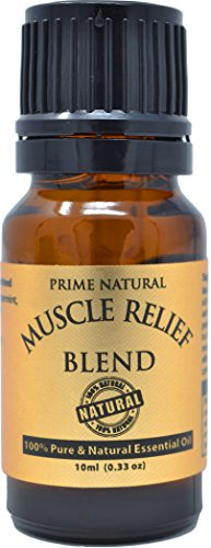 Prime Natural Muscle Relief Essential Oil Blend 10ml - Natural Pure...