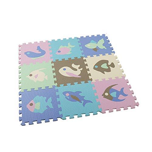 Camisin 9 Piezas Baby Eva Foam Puzzle Mats Alfombras para Niios Juguetes Alfombra para Niios Ejercicio de Enclavamiento Baldosas Alfombra para Niios F