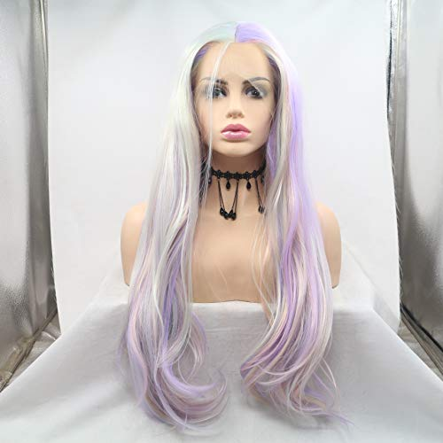 Front Lace Color Chemical Fiber Long Curly Head Wig