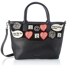Desigual Accessories PU Hand Bag, Sac à Main. Femme, Noir, U