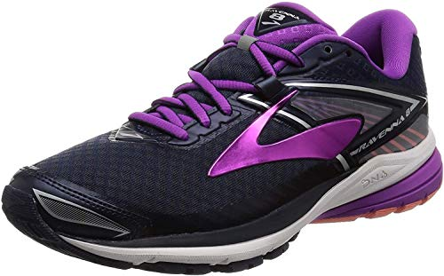 Brooks Women's Ravenna 8 Silver/Clematis Blue/Very Berry 6 B US