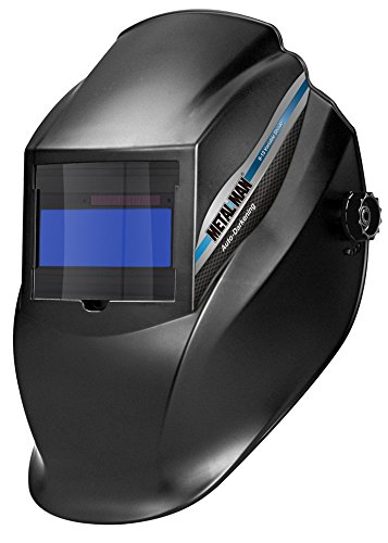 Metal Man Auto Darkening Welding Helmet With 9 To 13 Adjustable Shade Control Solar Powered & Back Up Battery| For MIG, TIG, Stick Welding & More | GET WELDING & Protect Your Eyes - AB8100SC