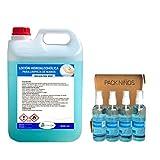 Ecosoluciones Químicas ECO- 901 | Loción Hidroalcohólica para manos 5 L + PACK INFANTIL 4 X 100 ML | 70% alcohol garantizado | Somos fabricantes, Calidad asegurada